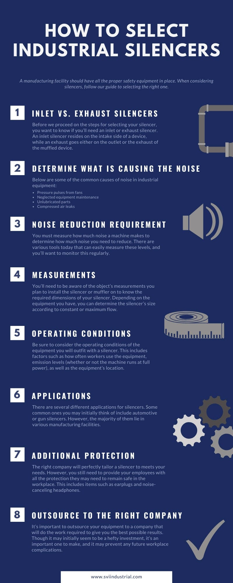 How to Select Industrial Silencers infographic