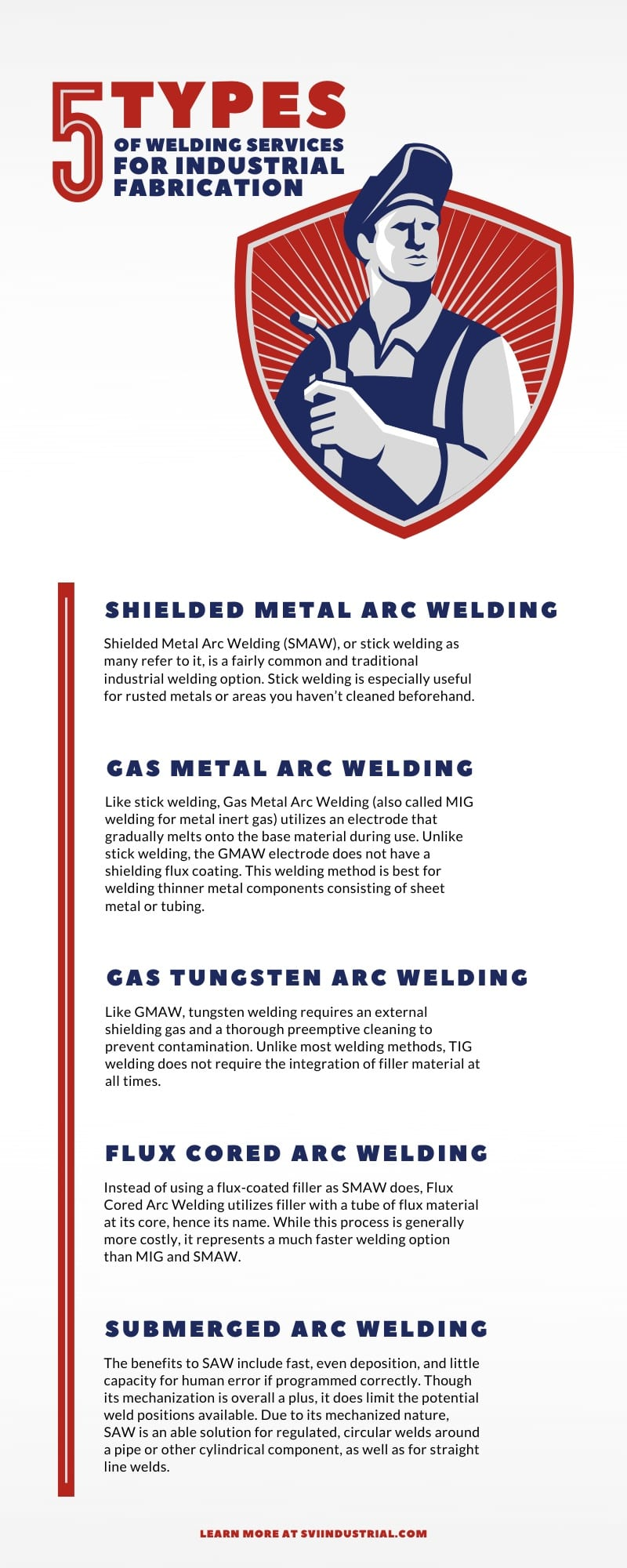 Types of Welding Services for Industrial Fabrication